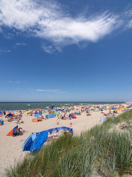 ROWY, plaża w sezonie letnim