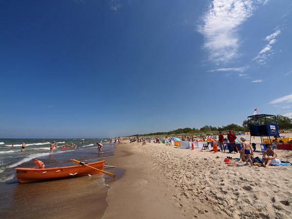 ROWY, plaża i morze w sezonie letnim